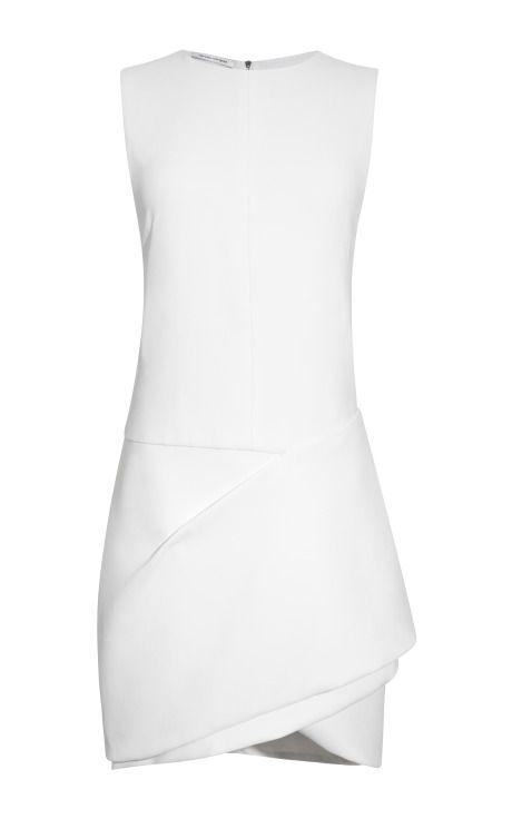 White Crepe Sable Dress by Narcisco for Preorder on Moda Operandi