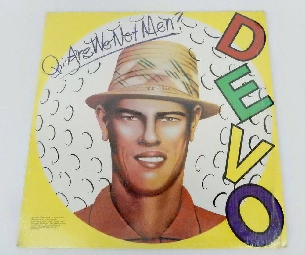 Devo Are We Not Men Lp Bsk 3239 Vinyl Album Original 1978 Warner Bros New Wave Are We Not Men Album Cover Art Greatest Album Covers