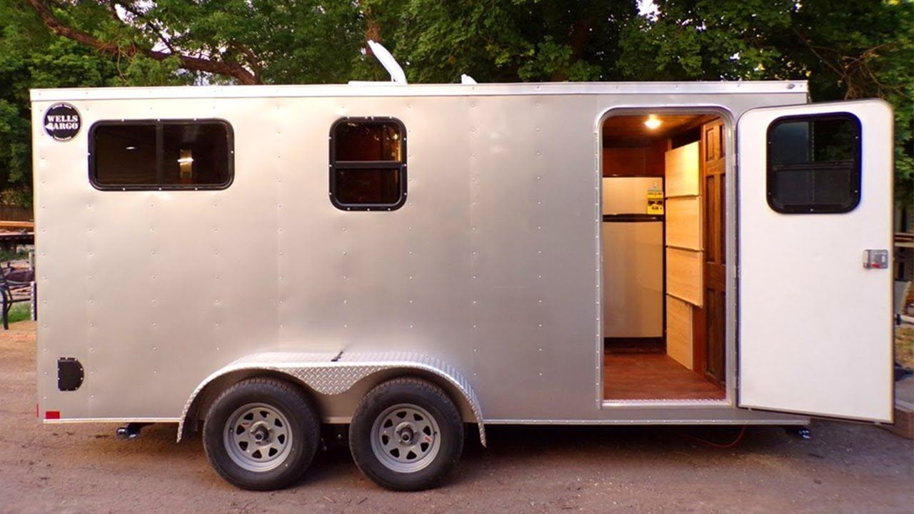 2018 Brand New Off Grid Toy Hauler Tiny Home For Sale Lower Than 40k Campers Enclosed Trailer Camper Cargo Trailers Cargo Trailer Conversion
