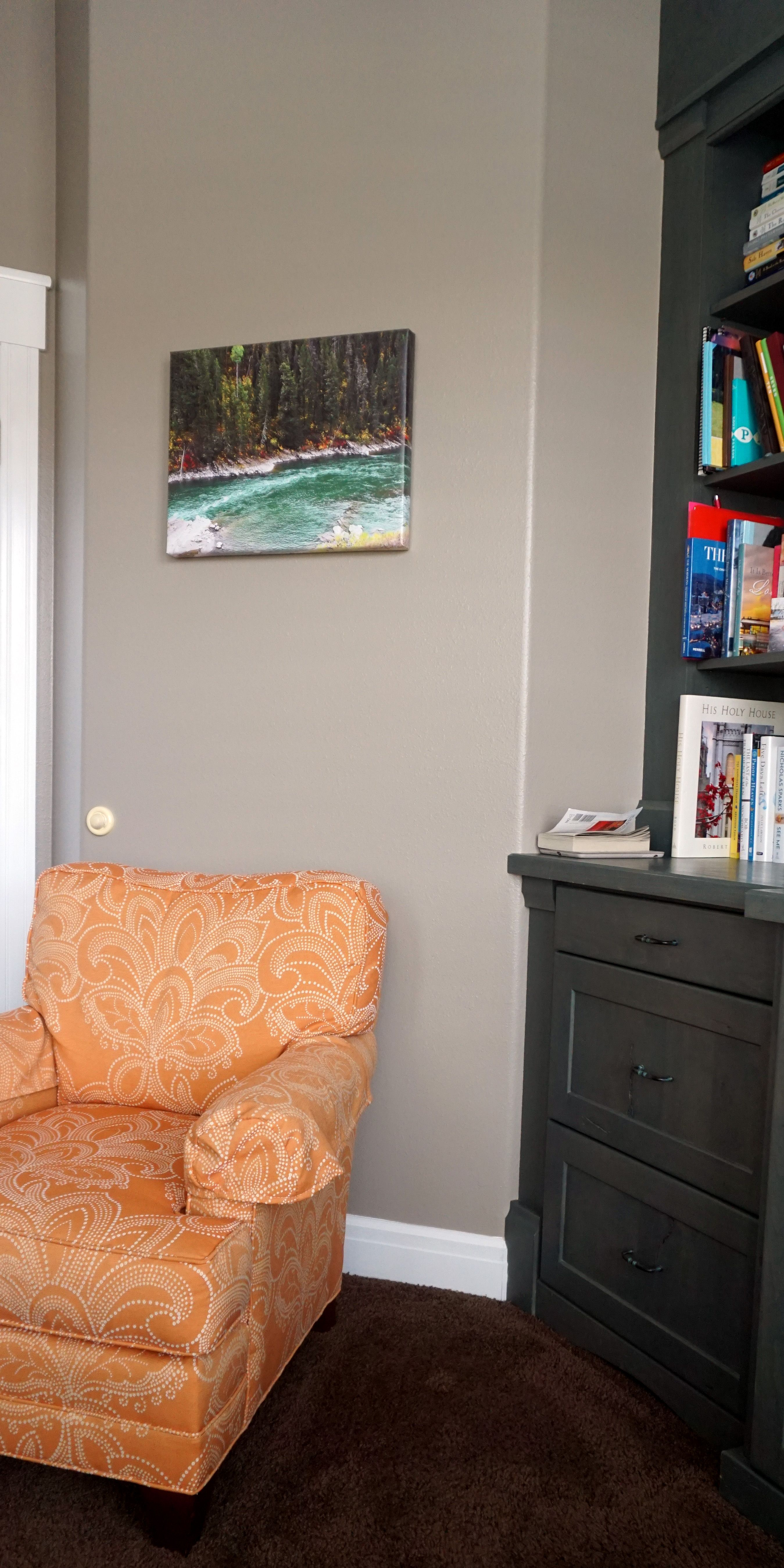 See that pretty canvas print? It's a wall space heater
