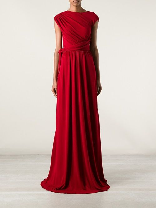 Issa London Gathered Crepe Gown