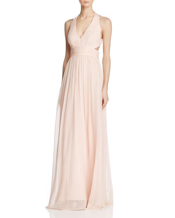 Aidan Mattox Cutout Silk Gown