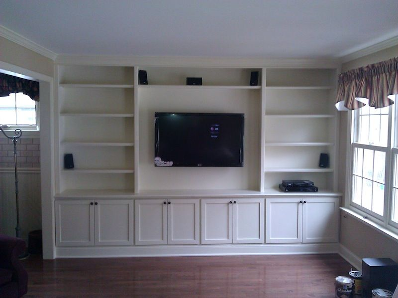 built in bookcase with flat screen tv google search built ins living room built ins. Black Bedroom Furniture Sets. Home Design Ideas
