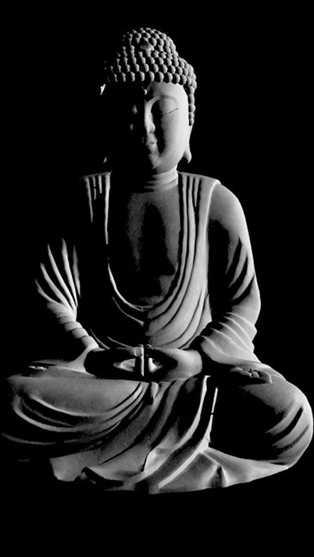 Lord Buddha Monochrome In 2020 Buddha Buddha Background