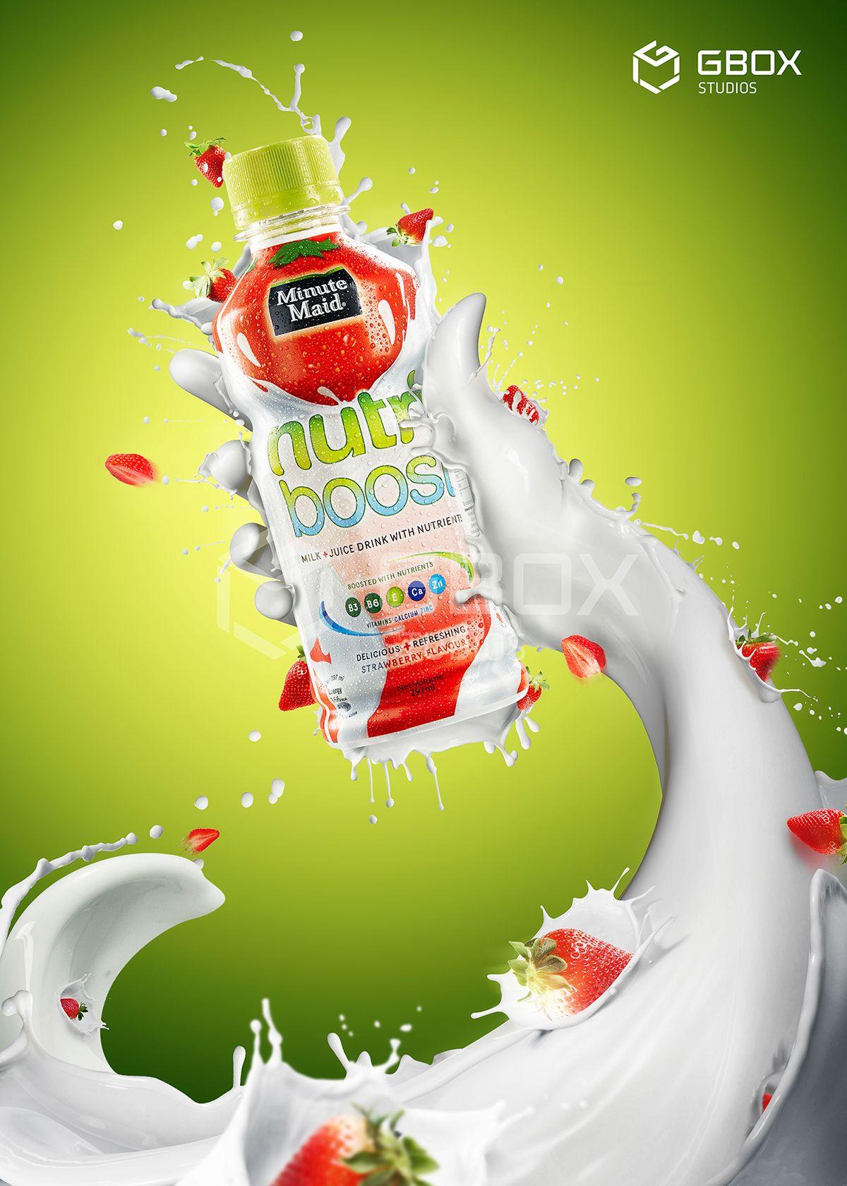 Nutri milk on Behance | Advertising design, Milk ...