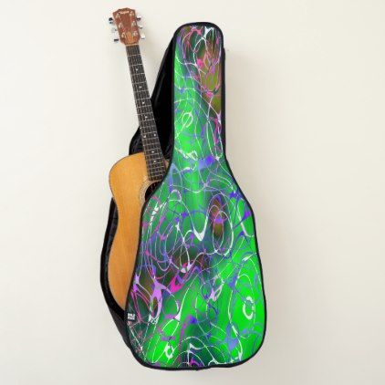 Chaos Green Abstract For Electric Or Acoustic Guitar Case Beauty Style Pinterest Guitar Case Acoustic Guitar Case And Guitar