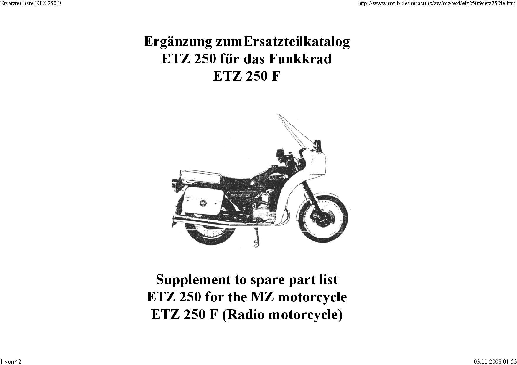 Mz Etz 250 F 1990 Parts List Pdf Download Service Manual Repair Manual Pdf Download Repair Manuals Pdf Download Windows Versions