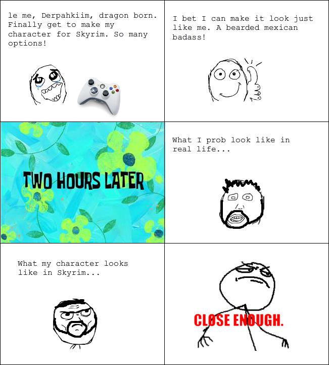 Funny Meme Characters : Rage comics skyrim character creator funny