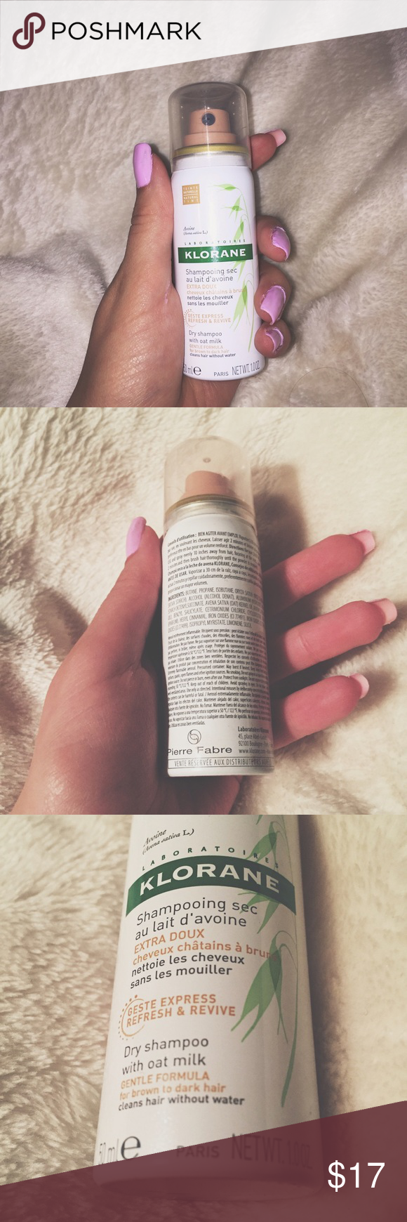 Klorane Dry Shampoo with Oat Milk - Natural Tint FOR BRUNETTE TO DARK HAIR | NEVER USED BRAND NEW ✨✨✨✨ selling bc I don't use dry shampoo Klorane Makeup Brushes & Tools