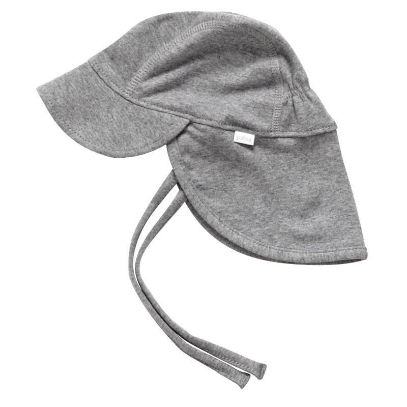 e386c93cbc6 Joha - Super lækker solhat i blød gråmeleret bomuld. | Baby | Baby, Hats