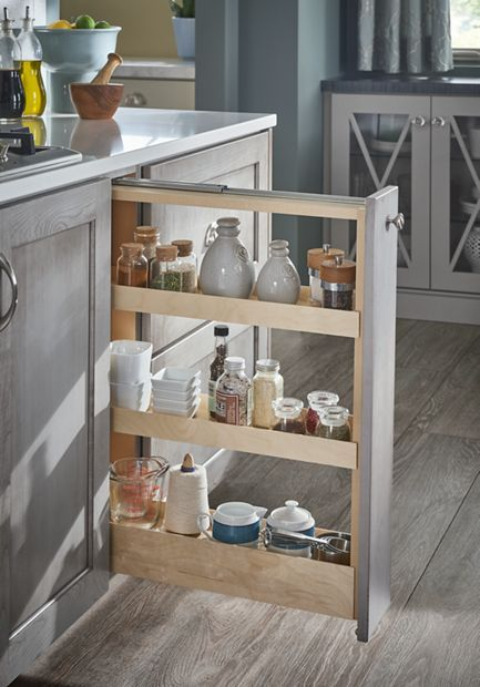 pull out spice rack kitchen pull out spice rack schuler rh pinterest com