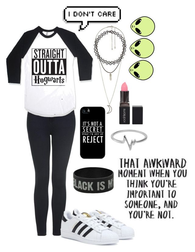 """☯☹♪"" by lolmariaaa ❤ liked on Polyvore featuring Topshop, adidas, Charlotte Russe, Samsung, Smashbox, Jewel Exclusive and Love Quotes Scarves"