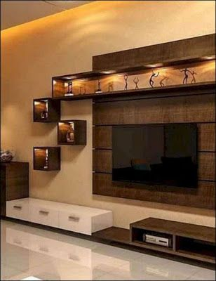 55 Modern Tv Wall Units For Living Rooms Wooden Tv Cabinets Designs 2020 Tv Unit Interior Design Modern Tv Wall Units Living Room Tv Unit Designs