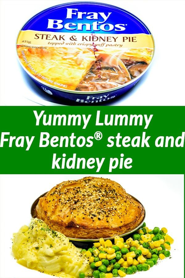 Fray Bentos Steak and Kidney Pie with mashed potato and ...