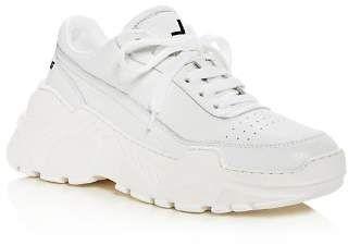 Women's Lace Sneakers Sanders Zenith Platform Joshua Leather Up S5IgqwqOx