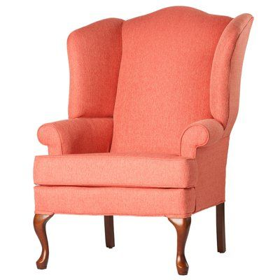 Fine Canora Grey Alanya Wingback Chair Upholstery Color Coral In Short Links Chair Design For Home Short Linksinfo