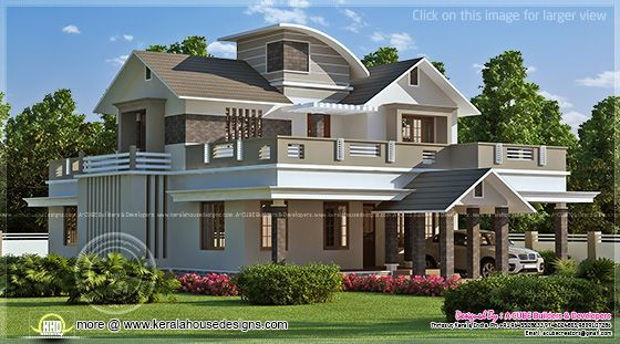 Kerala Home Design And Floor Plans Villas House Balcony Design Kerala House Design Kerala Houses