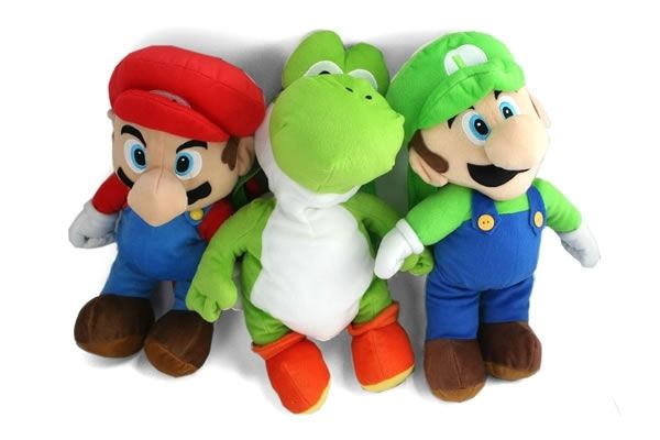 Super Mario bros Plush Backpacks. Mario, Luigi, & Yoshi.    $17.95 plus shipping