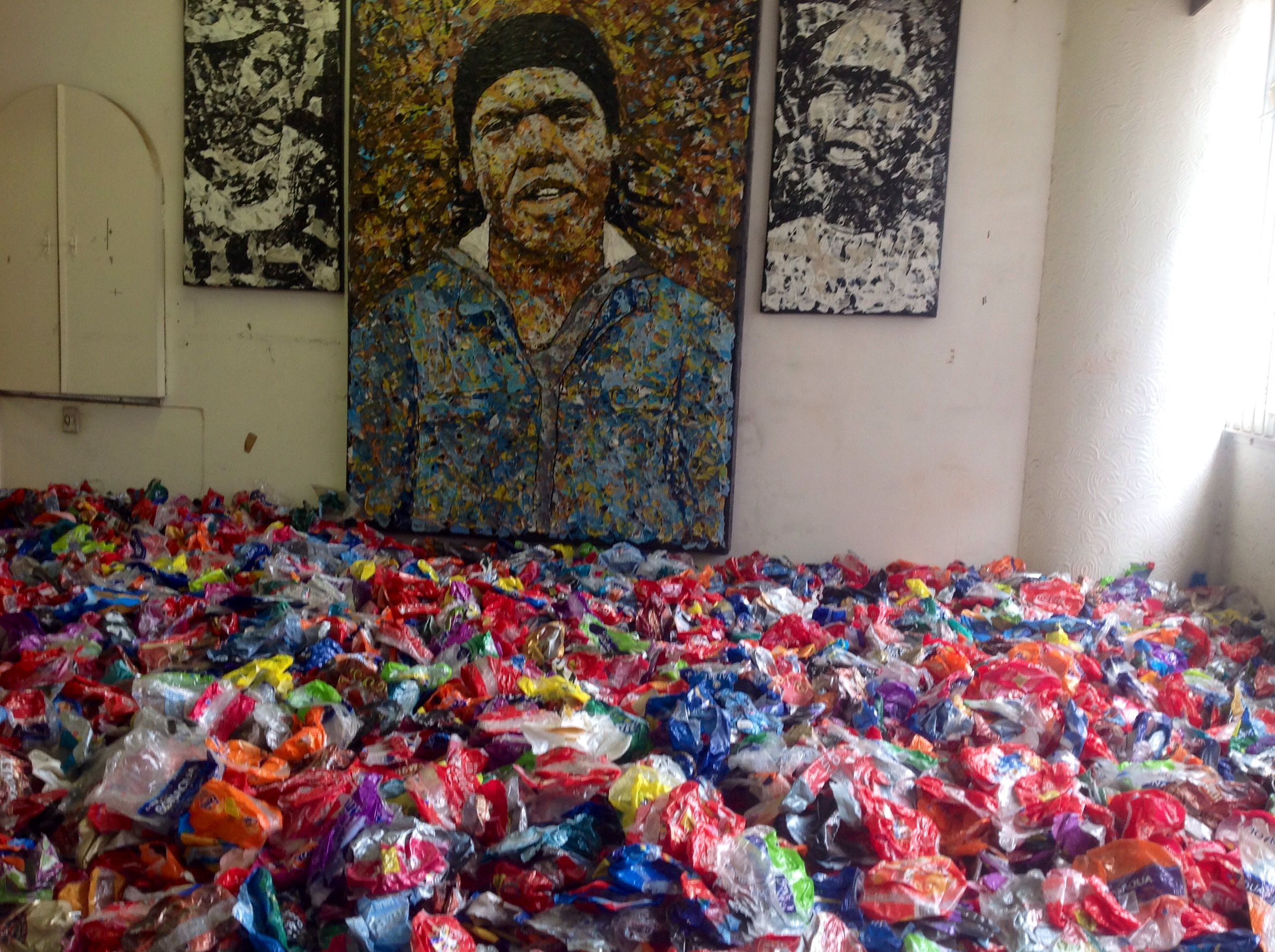 South African Artist Mbongeni Buthelezi Paints With Waste