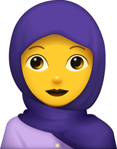 Woman With Hijab Emoji [Free Download All Emojis]