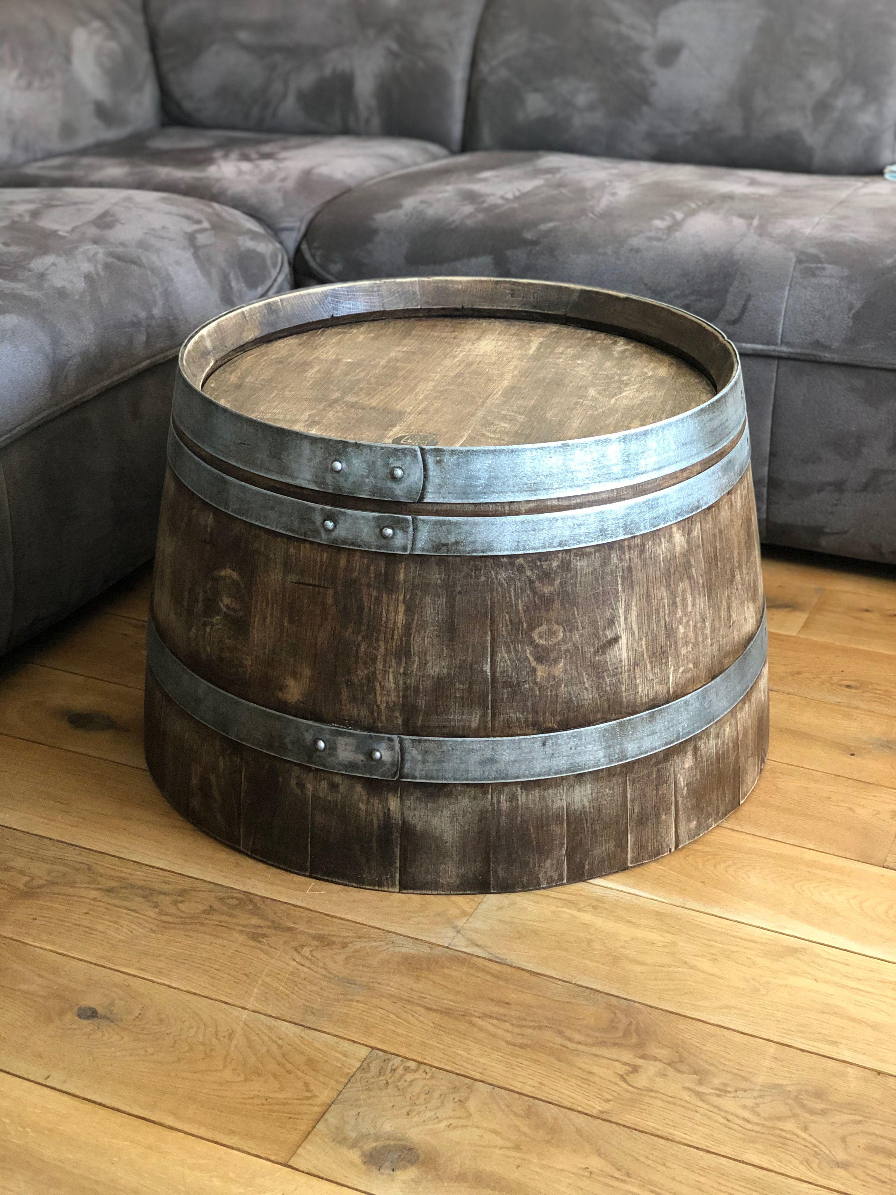 Weinfass Couchtisch Whiskyfass Optik Aus Halbem Weinfass Mit
