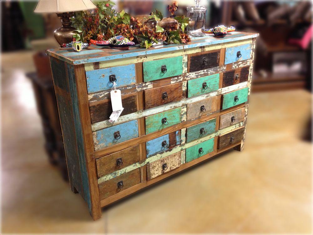 Multicolored Dresser Multi Color Distressed Dresser