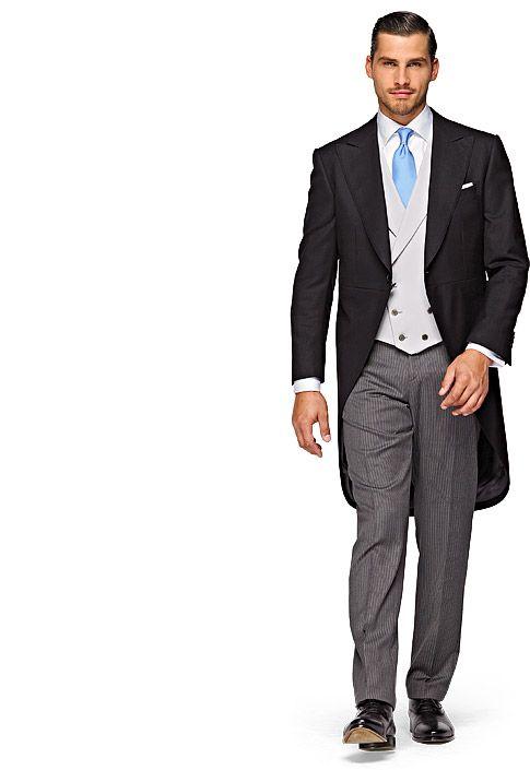 Suit Black Plain Morningcoat Jacq005 | Suitsupply Online