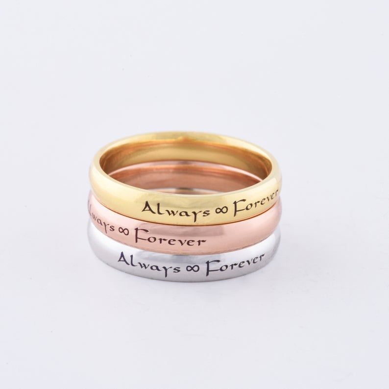 14K Solid Wedding Gold Ring, Stackable Gold Wedding Ring, Personalized Wedding Ring, Gold Wedding Band, Gold Wedding Ring, Wedding Band