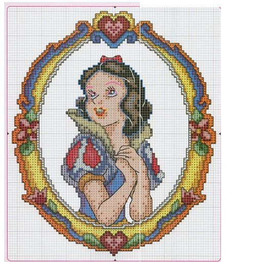 Punto de Cruz GRATIS: Blancanieves Princesas disney