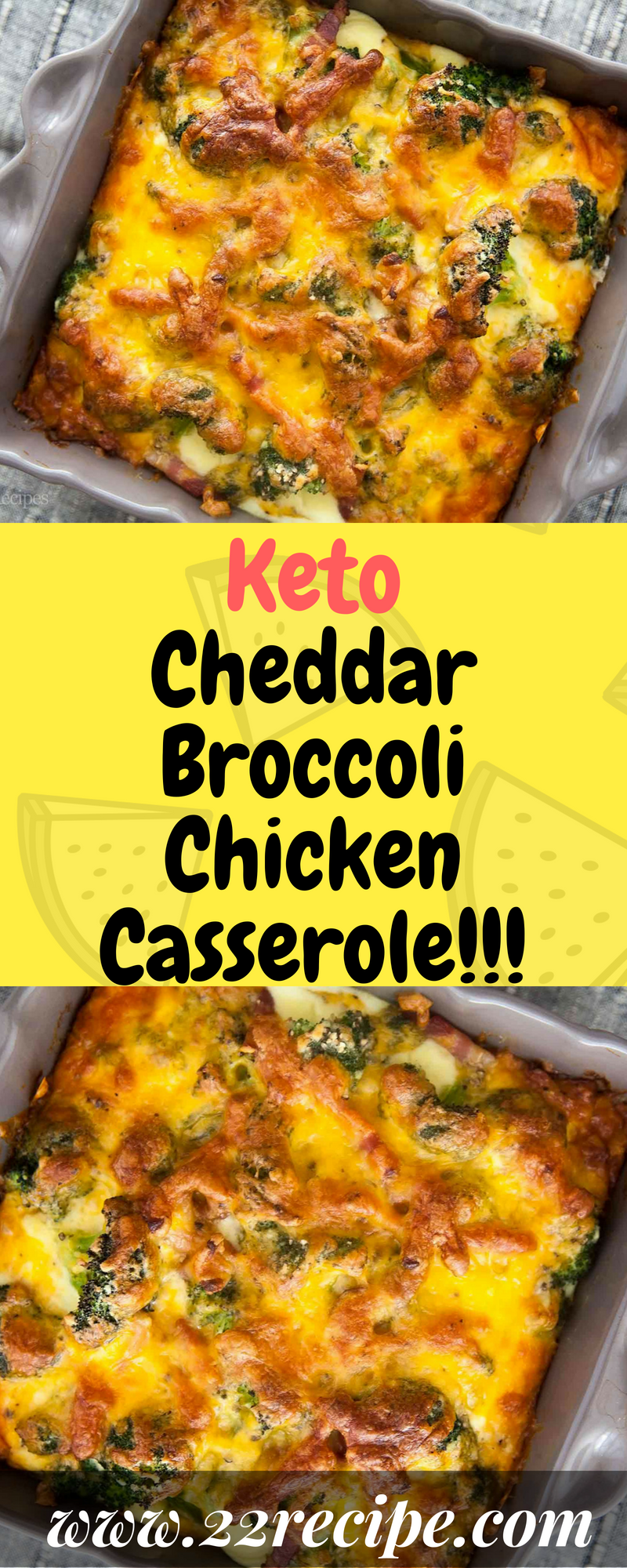 Keto Cheddar Broccoli Chicken Casserole - 22 Recipe In -6554