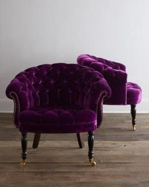 Elegant Seating   Haute House Sausalito Chair I Horchow   Purple Velvet Tufted  Accent Chair, Eggplant Purple Tufted Chair, Purple Velvet Tufted Chair