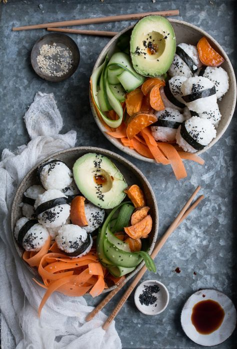 VEGAN SUSHI BOWL + A COOBOOK GIVEAWAY! (V+, GF, ChF, NF) — a vegan food photography and styling blog – Yummy drinks
