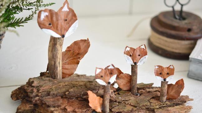 (Quelle: Privat, Imke Johannson) Waldtiere aus Naturmaterialien #herbstdekobastelnnaturmaterialien
