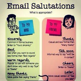 Cómo Saludar Y Despedirse En E Mails Formal E Informalmente Súmate En Facebook Twitter E Instag Educacion Ingles Expresiones En Ingles Vocabulario En Ingles