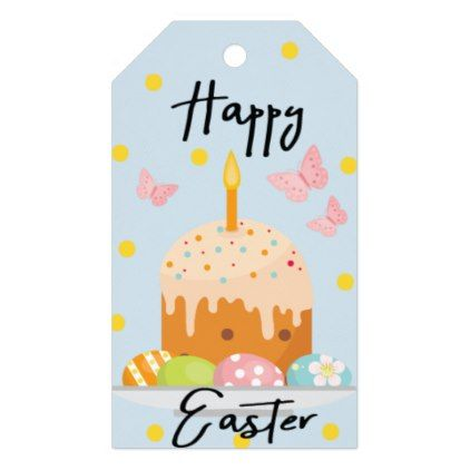 Personalized floral bunny easter gift tags negle Choice Image