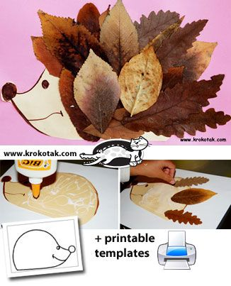 Fall Leaf HEDGEHOG