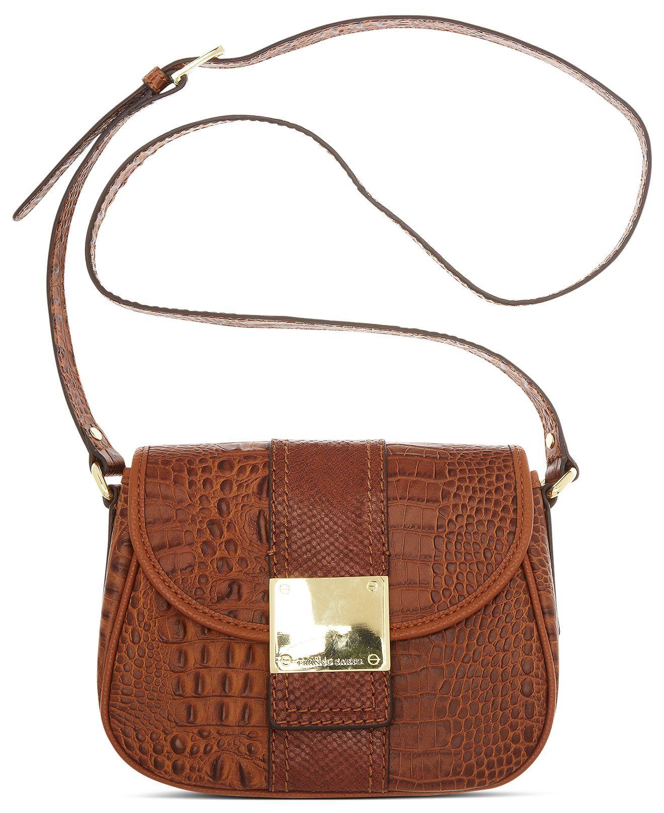 Franco Sarto Handbag Croc Leather Kidman Crossbody