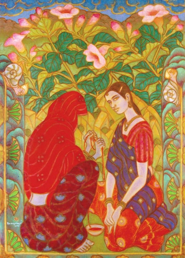 Art of ramachandran arte vestidos dos pinterest for Asha ramachandran mural painting