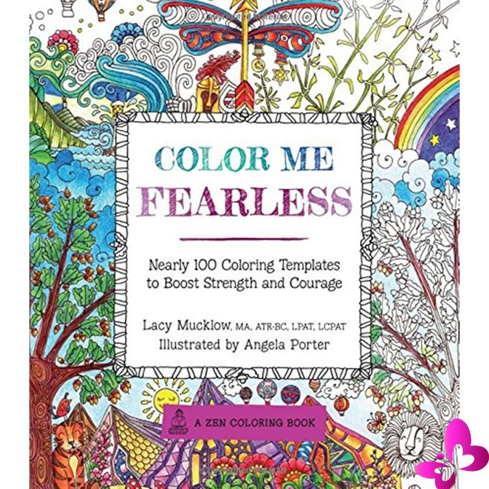 Adult Coloring Books Color Me Fearless Boost Strengths Courage ...
