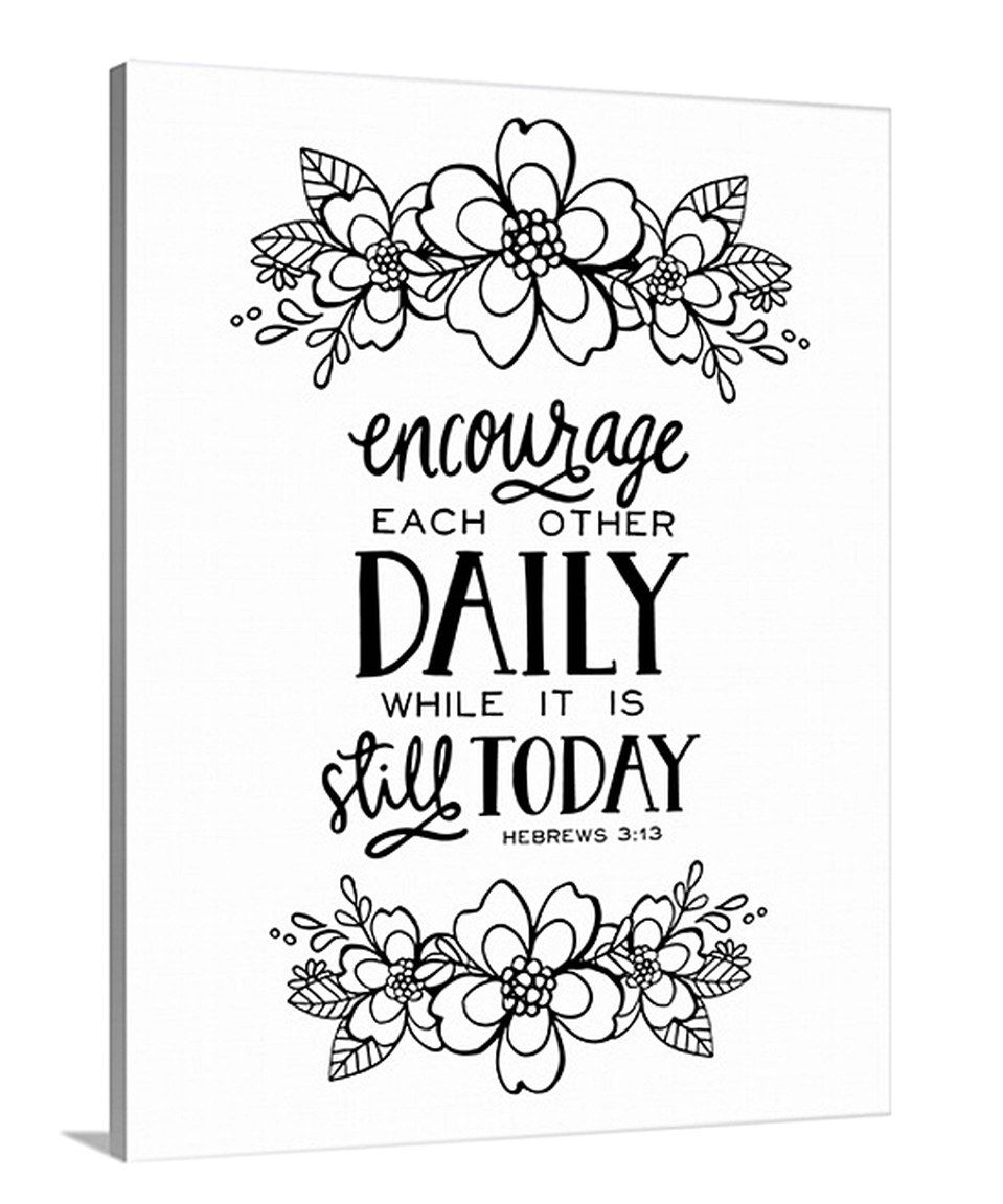 encourage each other daily coloring canvas - Daily Coloring Pages