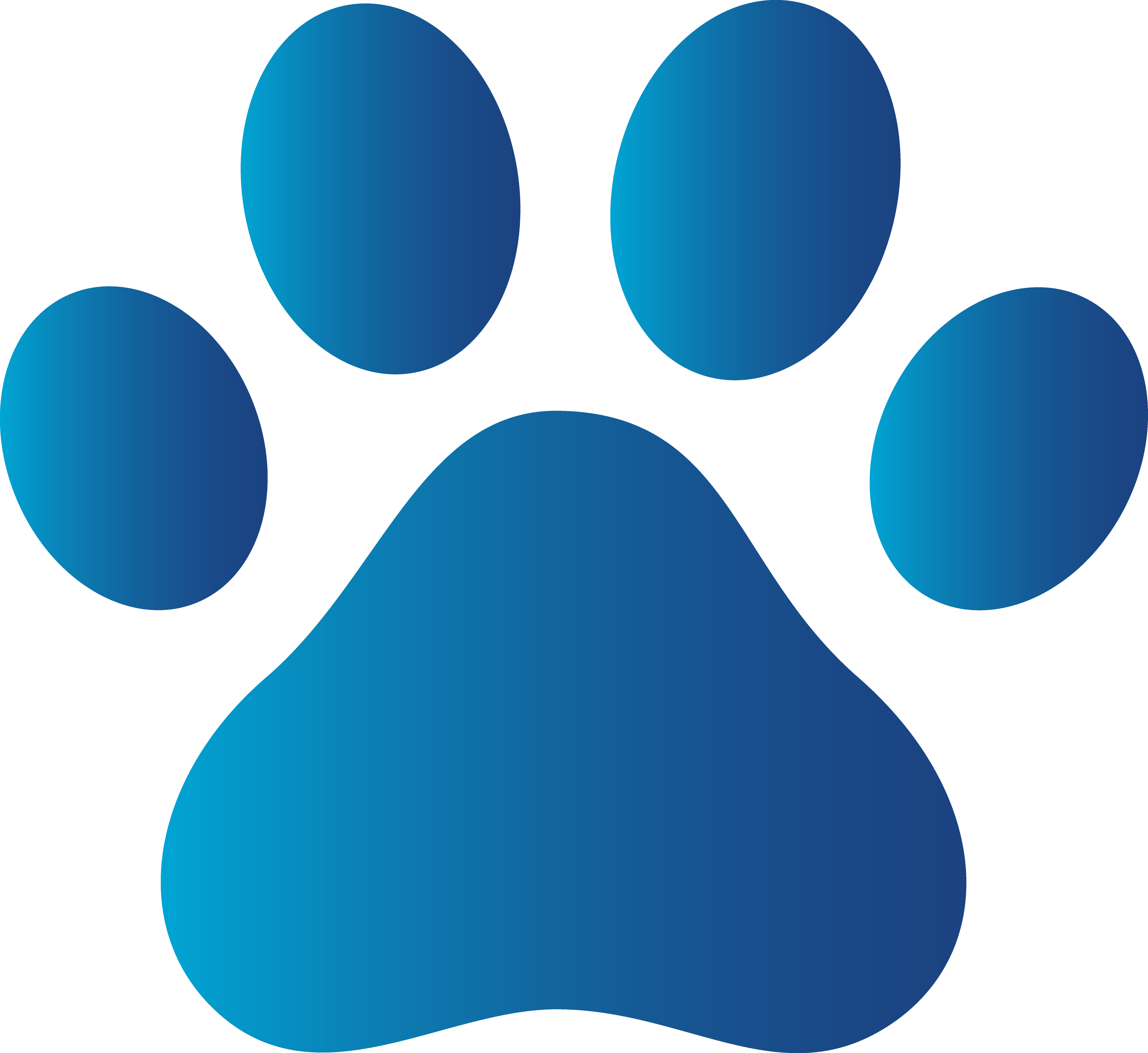 free clip art Blue Dog Paw Print Free Clip Art