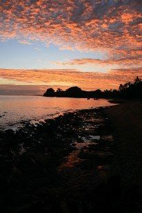 Sunset at Vorovoro #tribewanted #fiji