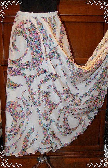 97b97512c87b Шелковая юбка в пол