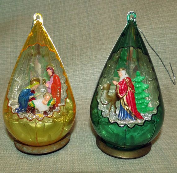 Vintage Christmas Ornament Jewelbrite By OurFoundTreasures
