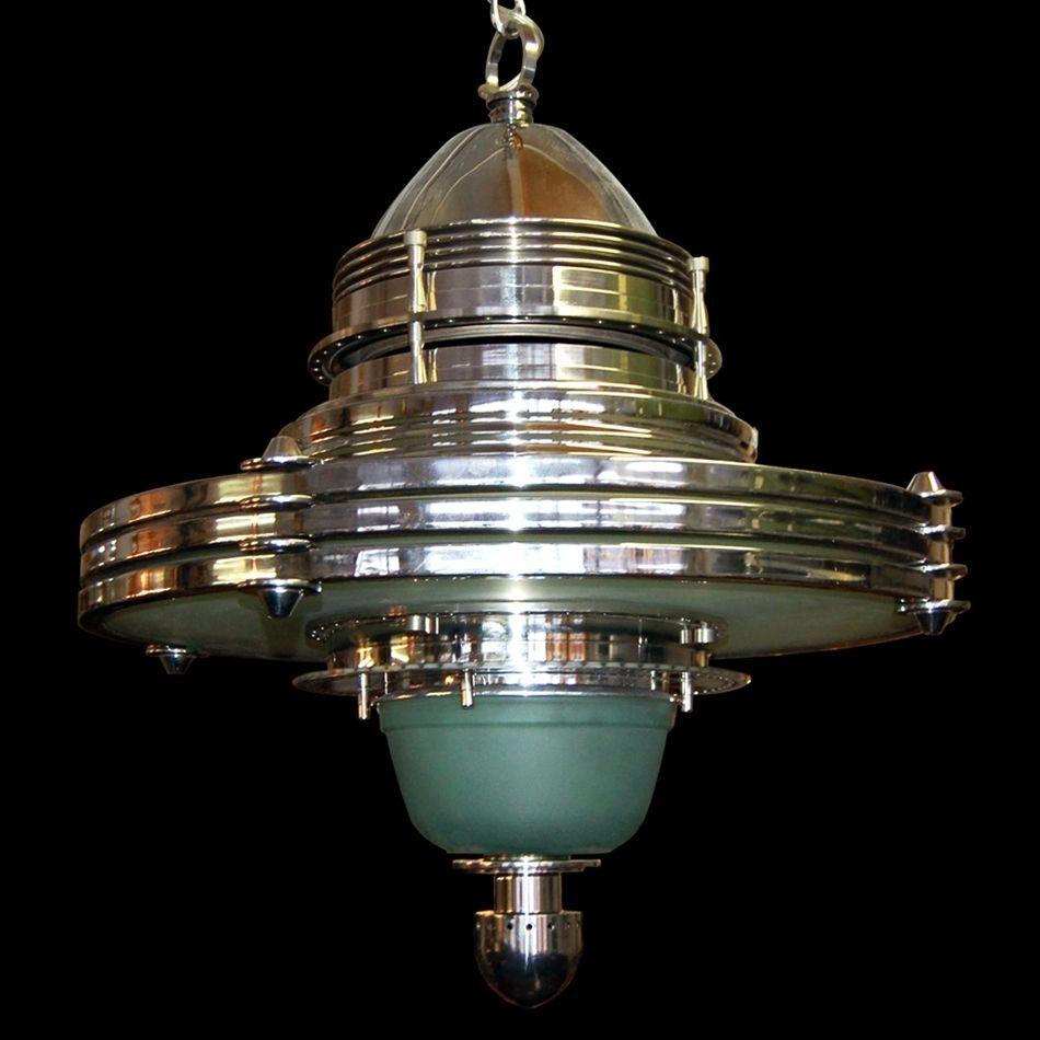 5801 Fabulous Art Deco/Machine Age Hanging Lighting Fixture | ART ...