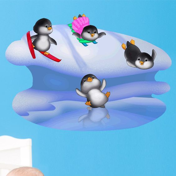 Penguin Fun II Wall Decal