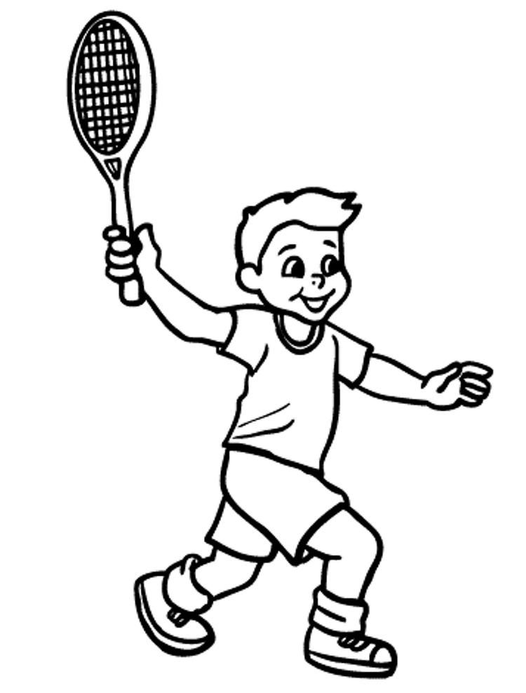 Boy Playing Tennis Coloring Pages Coloring Pages Sports Coloring Pages Space Coloring Pages