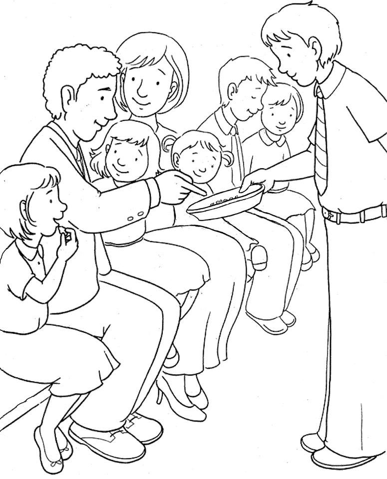 Lesson 3 4 Worship Bulletin Board Church Family Taking The Lord S Supper Lds Coloring Pages Bible Coloring Pages Jesus Coloring Pages
