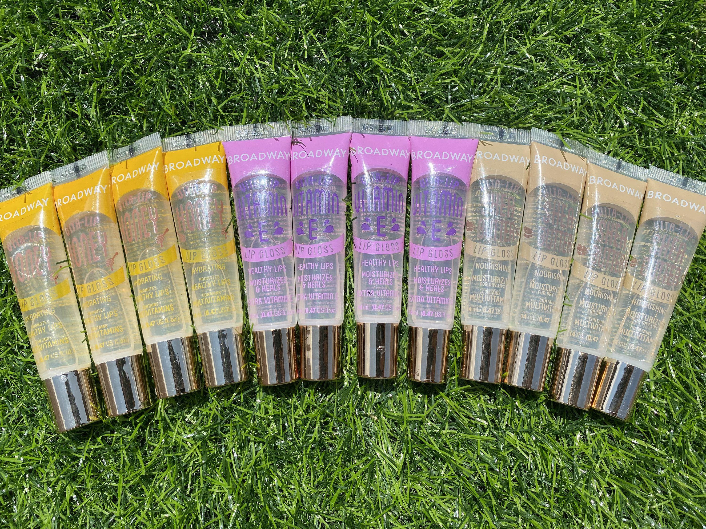 12 Pack Broadway Vita Lip Gloss 4 Honey 4 Shea Butter 4 Etsy Lip Gloss Collection Lip Gloss Lip Gloss Cosmetics