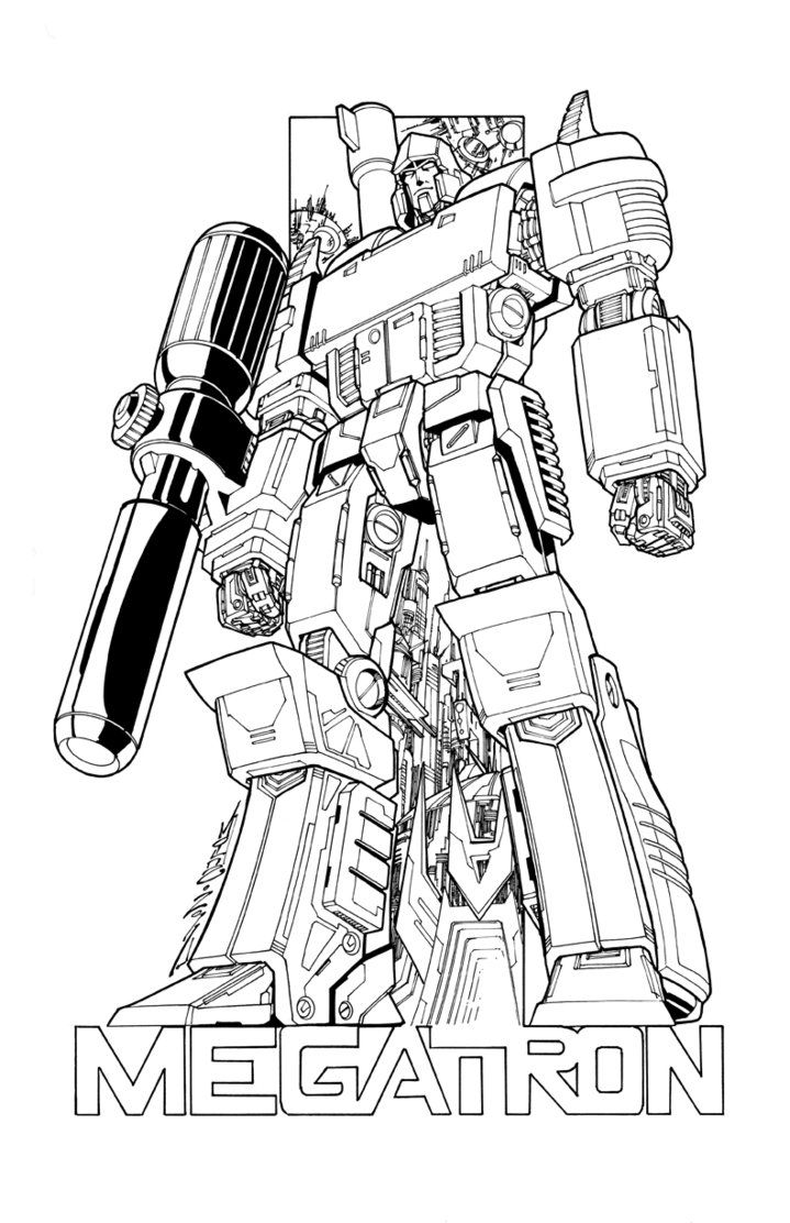 Megatron Commission Lineart By Markerguru Transformers Coloring Pages Dinosaur Coloring Pages Spiderman Coloring
